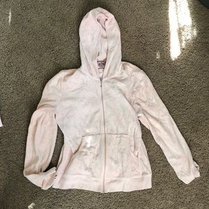 Juicy Couture light pink crushed velvet jacket